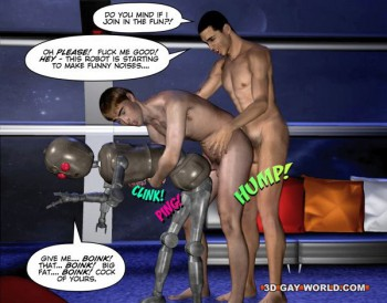 robot and gay humans fucking hard