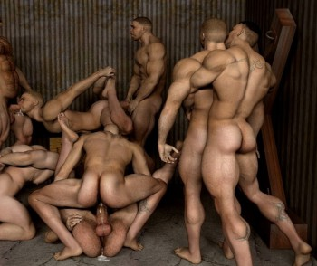 3d gay group sex orgy